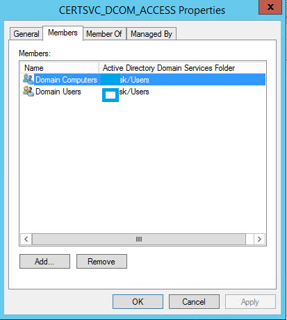 Problem with issuing certificate to domain controllers