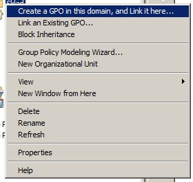 Create and link new GPO