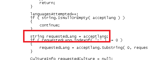 string requestedLang = acceptlang;