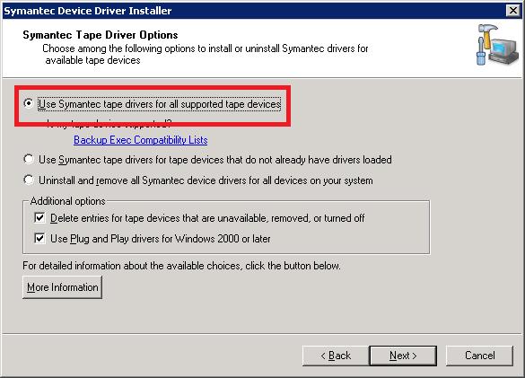 Install Symantec drivers