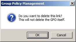 Delete link confirm