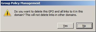 Delete GPO