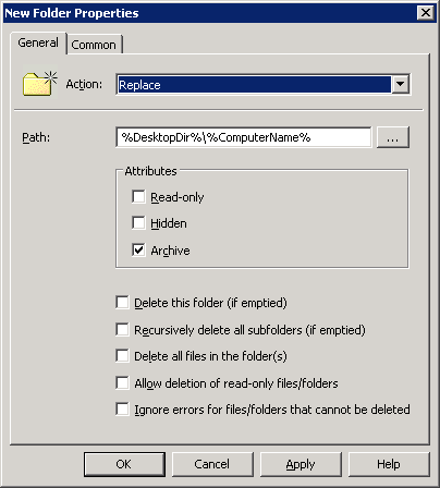 GPO Preferences for New Folder