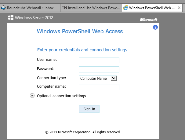PowerShell Web Access