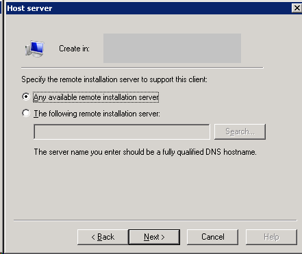 Define remote installation server