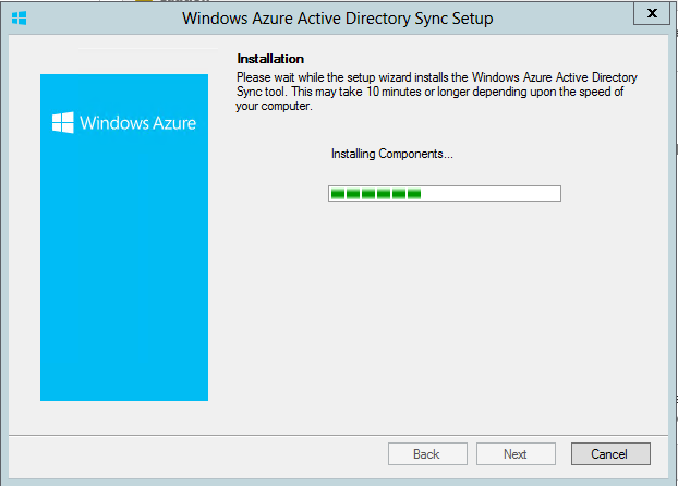 Installing AD Sync Tool
