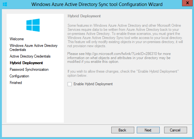 Enable Hybrid Deployment
