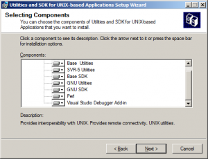 Unix SDK components