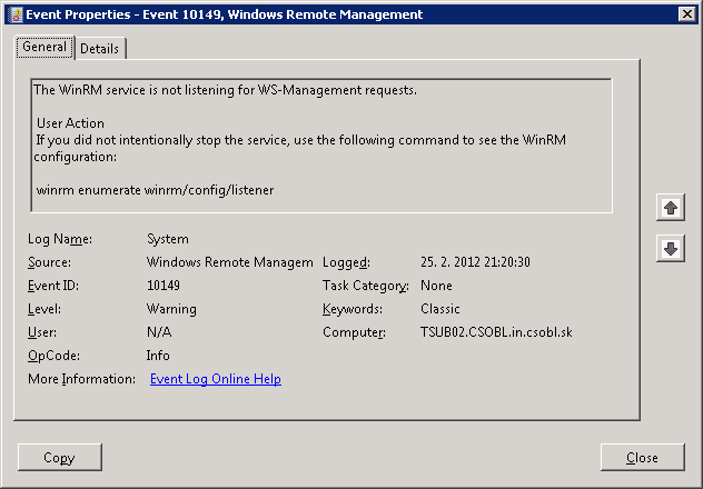 Event 10149 Windows Remote Management