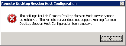 Remote Desktop Session Host Configuration error