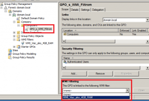 Aplikovanie WMI filtra
